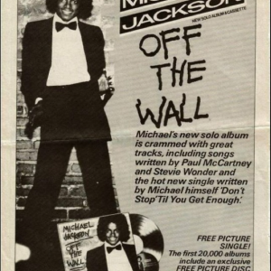 MJ's Off The Wall Advertisement Clipping