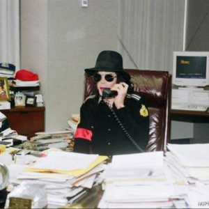 MJ in the office