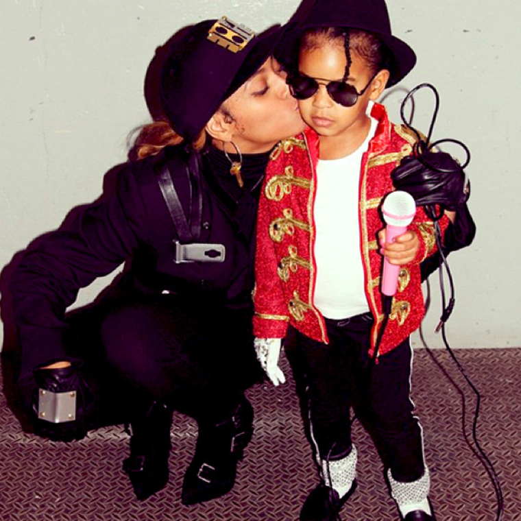 Beyonce's daughter, Blue Ivy, dressed as Michael Jackson