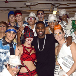 Jason Derulo and the cast of Michael Jackson ONE