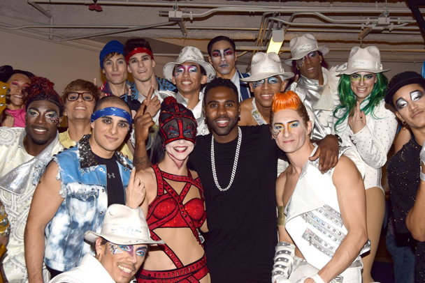 Jason Derulo Meets Cast of Michael Jackson ONE