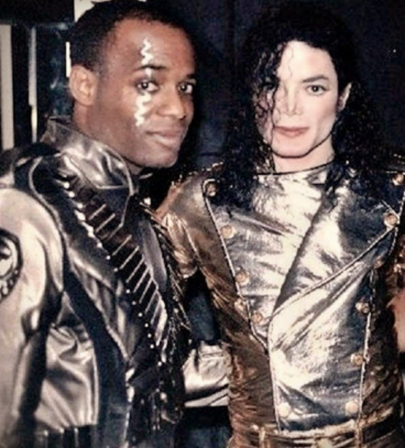 Dorian Holley with Michael Jackson