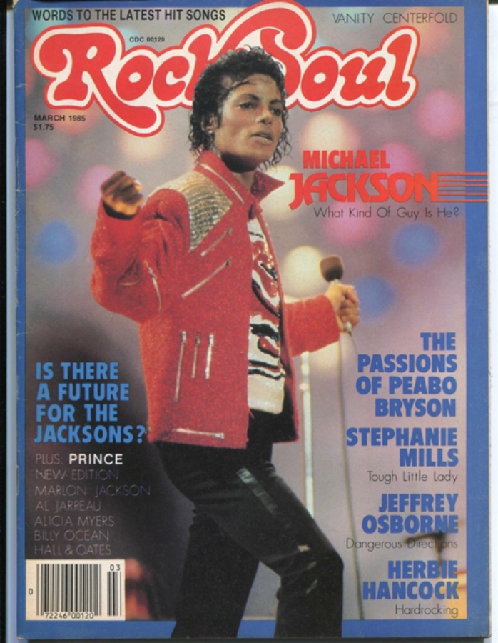 """Michael Jackson on the cover of """"Rock & Soul"""""""