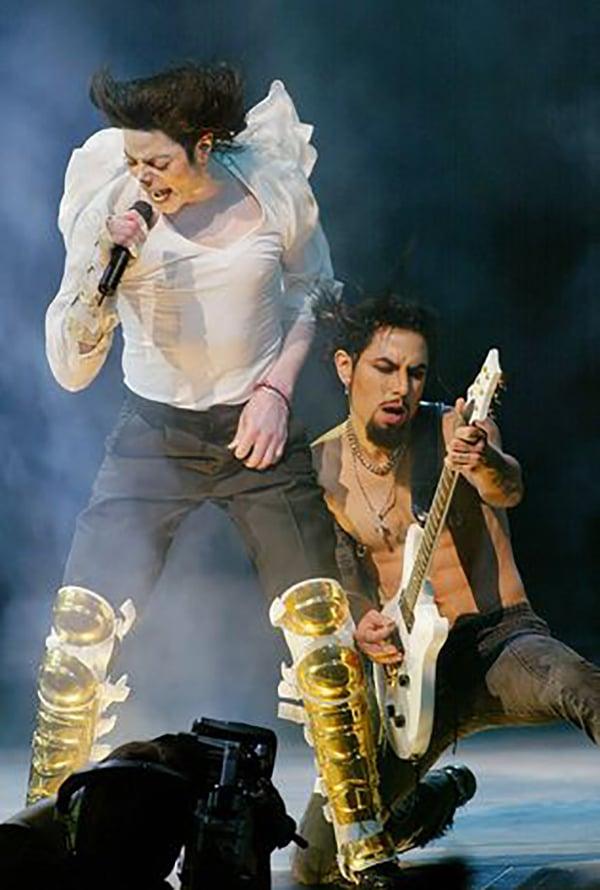 Michael Jackson and Dave Navarro