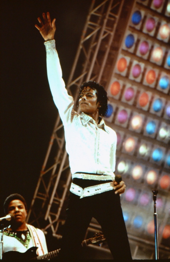Michael Jackson Performing at Giants Stadium in 1984