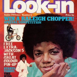 Michael Jackson Featured On Cover of Look-In Magazine