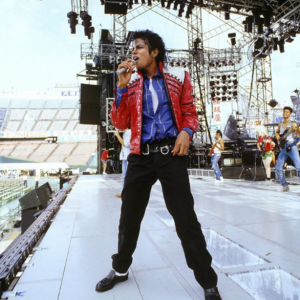 Michael Jackson doing soundcheck