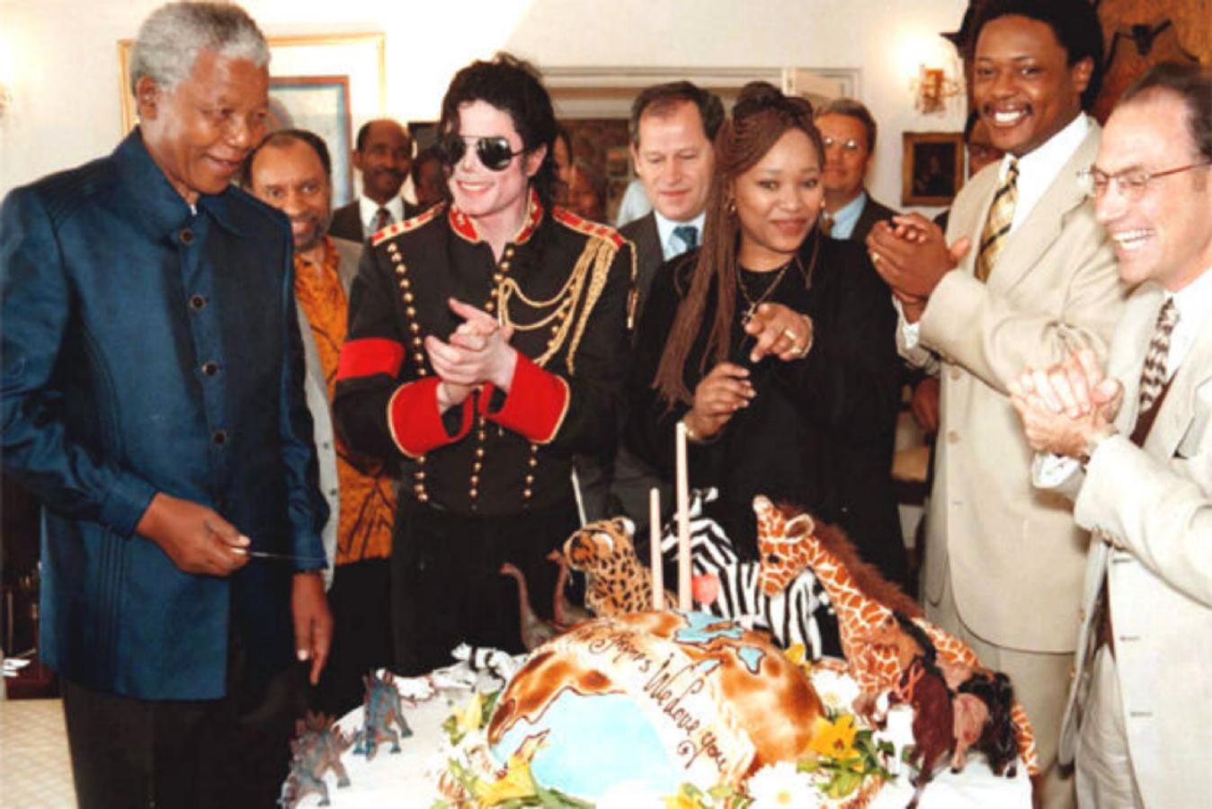 MJ and Nelson Mandela