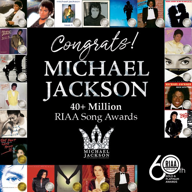 Congrats! Michael Jackson 40+ Million RIAA Song Awards