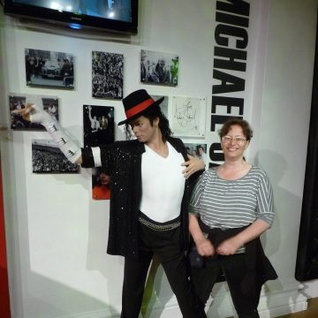 with MJ at MT in London