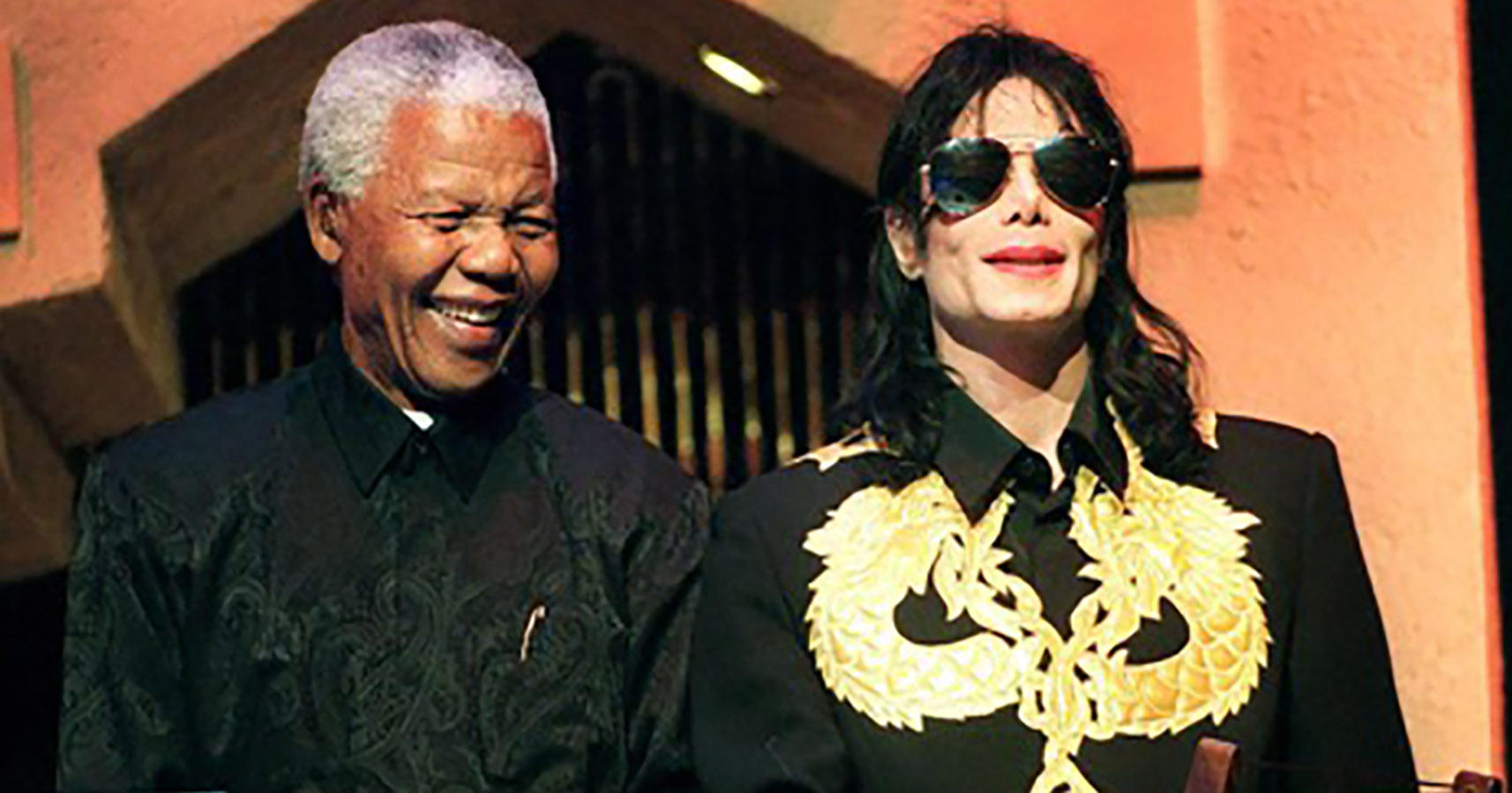MJ and Nelson Mandela