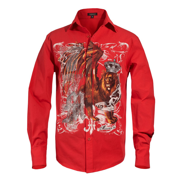 Michael Jackson X Mission Crystal Lion Long Sleeve Shirt
