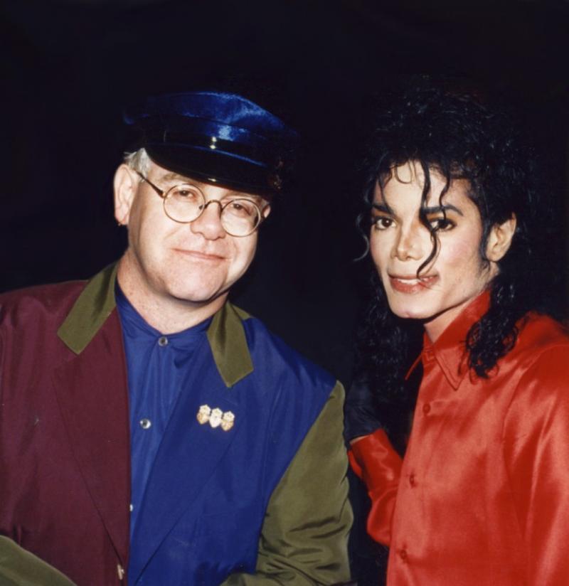 Elton John with Michael Jackson