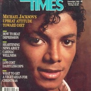 Remember MJ on the Cover of the Vegetarian Times?