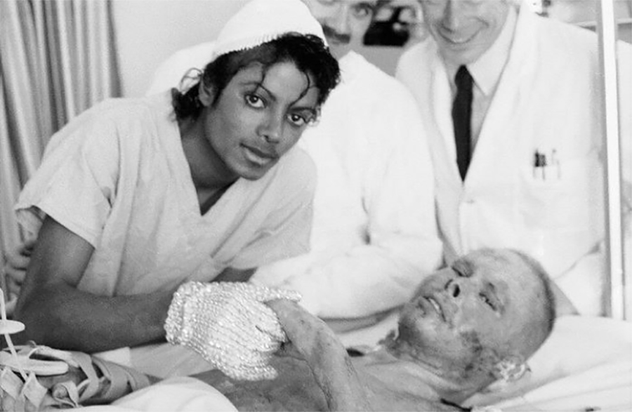 MJ Established The Michael Jackson Burn Center At Brotman Memorial Hospital