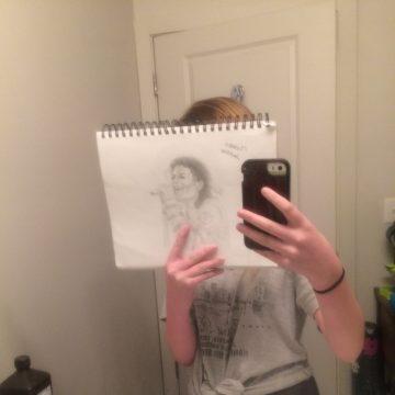 Drawing Of Michael Jackson in BAD Era