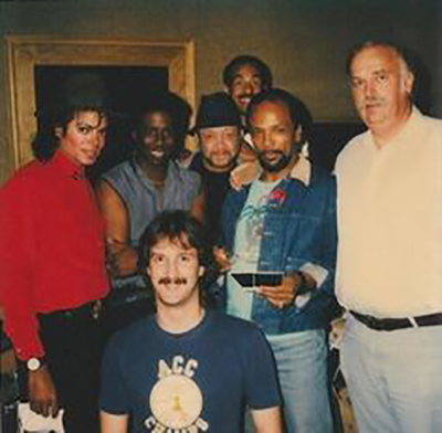 Michael Jackson BAD Family Night in the studio