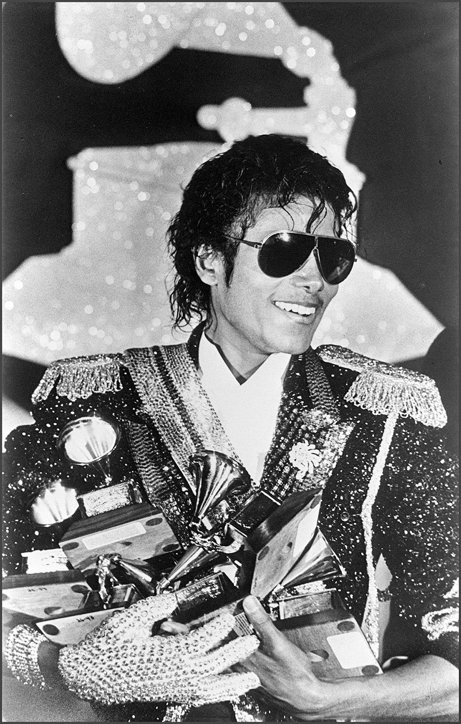Michael Jackson wins a record 8 awards at the GRAMMY Awards February 28, 1984