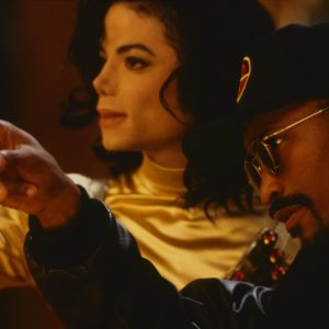 Michael Jackson and John Singleton on the set of Remember The Time short film