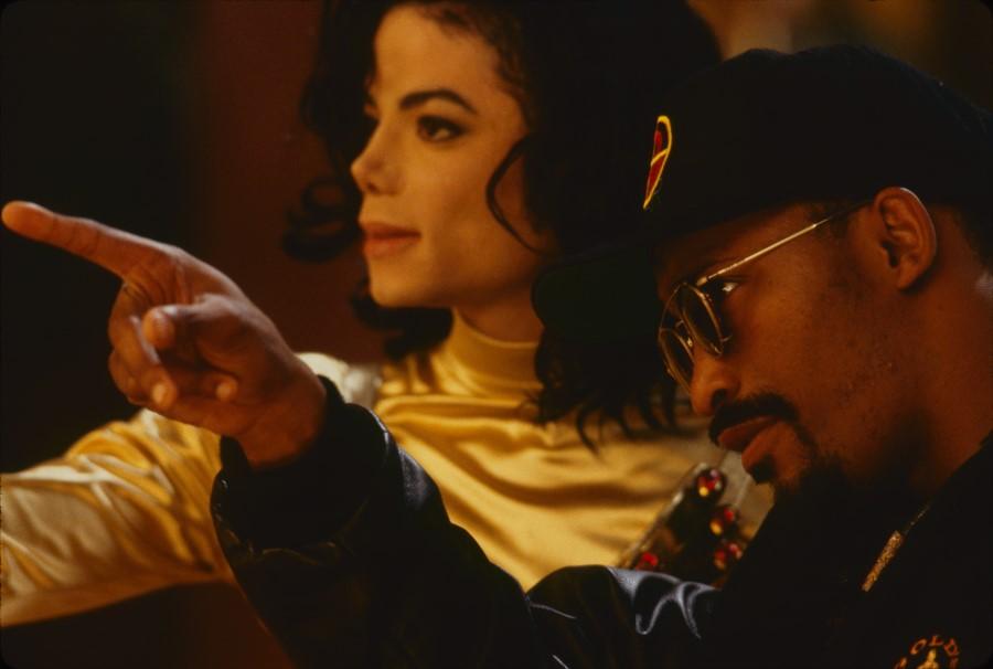 Michael Jackson and John Singleton on the set of Remember The Time short film