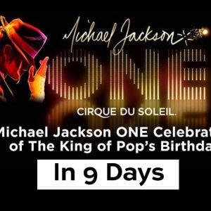 Michael Jackson Birthday Celebration Countdown - 9 Days