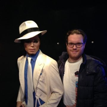 Michael and Rocco de Mooij in Madame Tussauds in Amsterdam