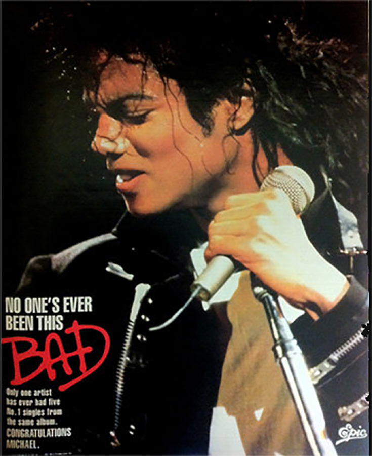 In 1987, MJ's 'Bad' Album Hit #1 On The U.S. Album Charts