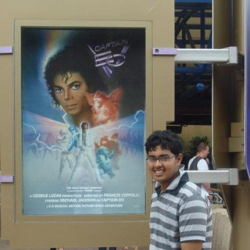 At Captain EO Disneyland