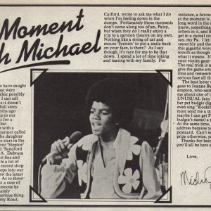 Enjoy A Moment With Michael