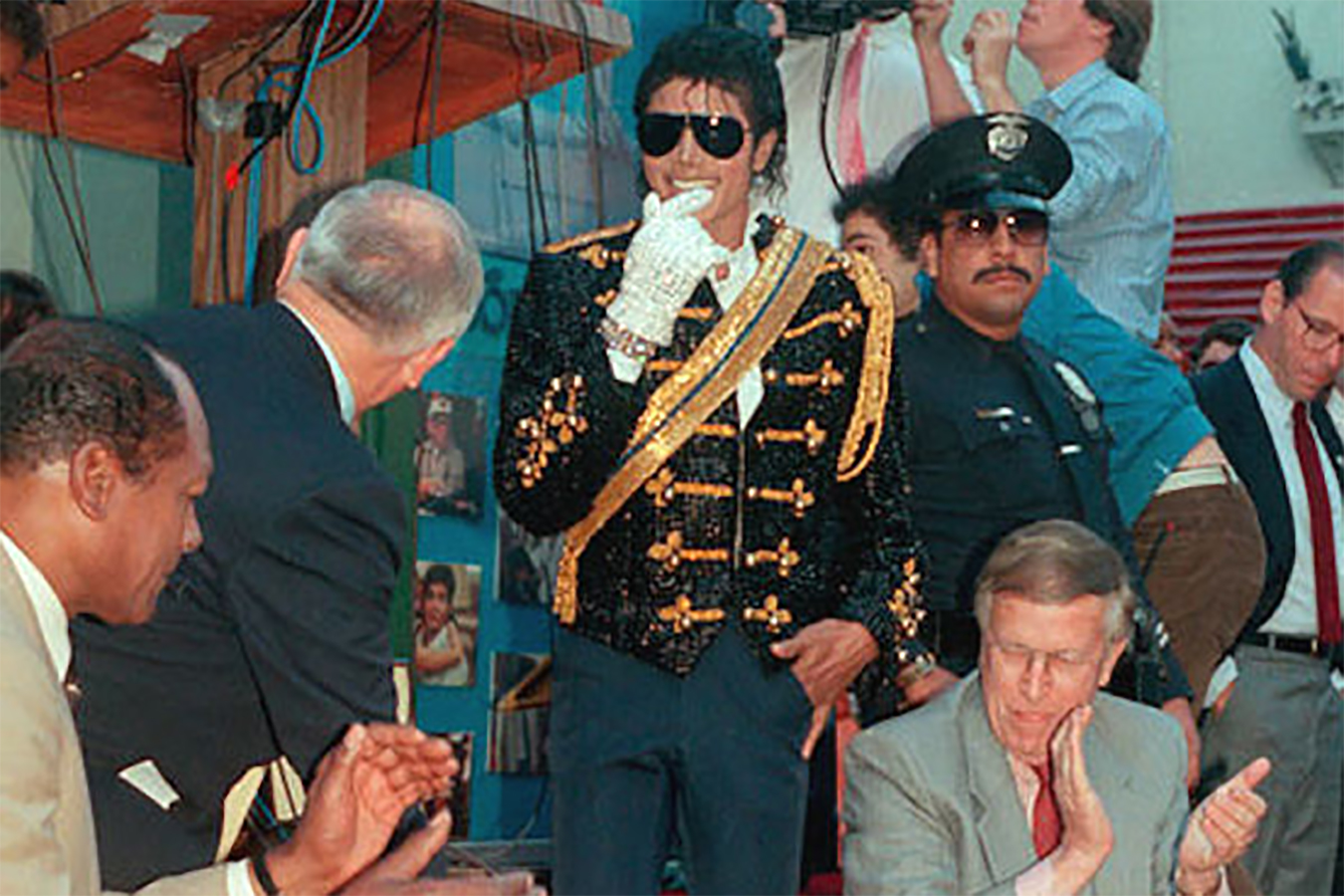 MJ Honored With Solo Star On Hollywood Walk of Fame In 1984