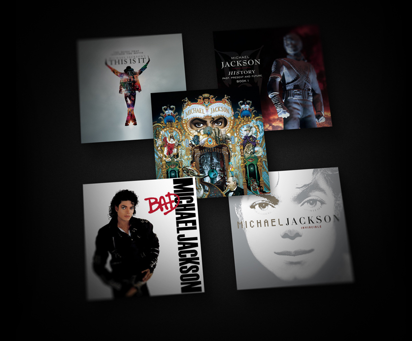 Michael Jackson This Is It, HIStory: Past, Present and Future Book I, Dangerous, Bad, Invincible