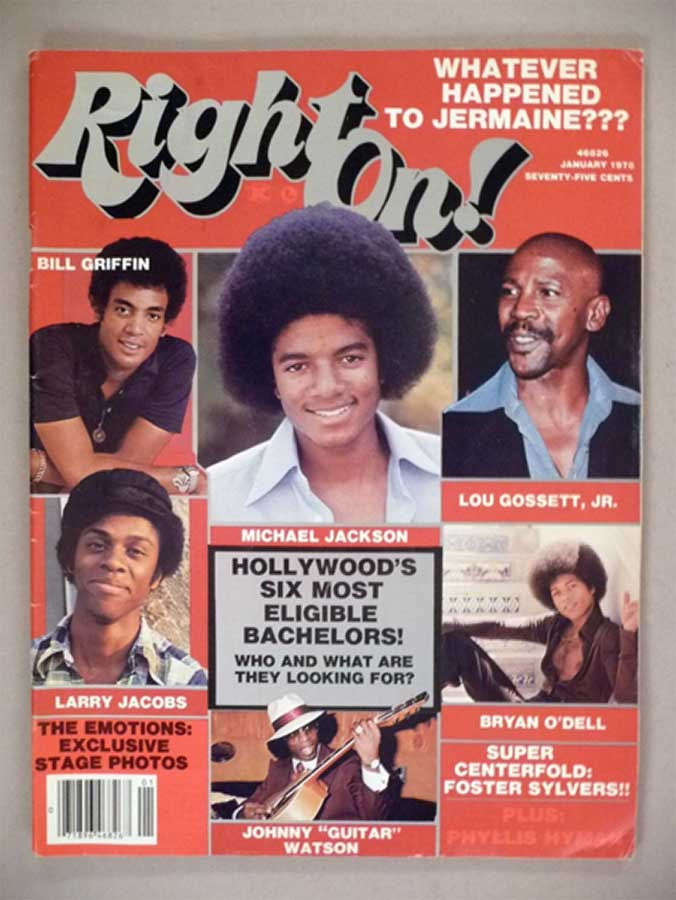 Michael Jackson In 1978 Edition Of Right On!