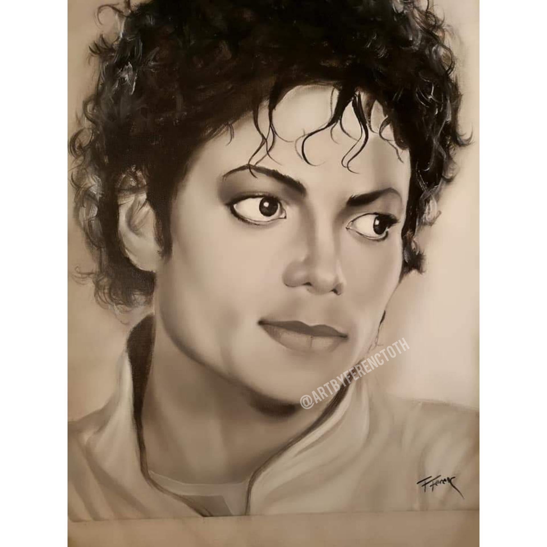 Michael Jackson Art By Ferenc Tóth