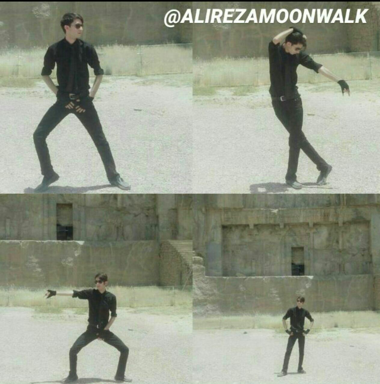 Persian MJ Fan dance Like Michael Jackson in persepolis