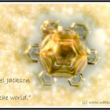 Heal the world in a water-crystal