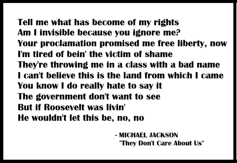 Michael Jackson They Don't Care About Us lyrics