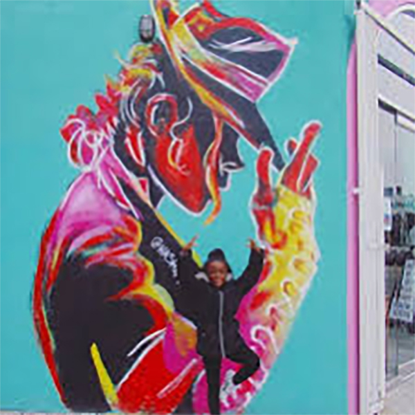 Artist Hashim LaFond Installed A Beautiful Mural of Michael Jackson In Los Angeles