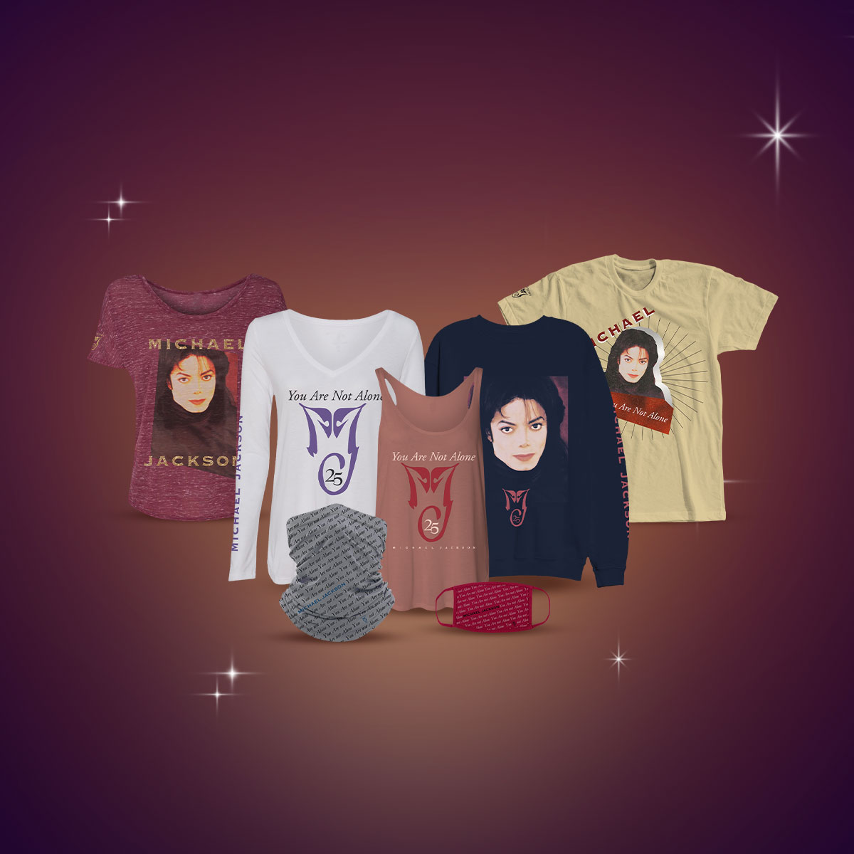 Michael Jackson You Are Not Alone merch collection