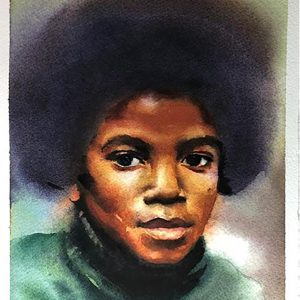 Artist Creates Beautiful Portrait of Young Michael Jackson