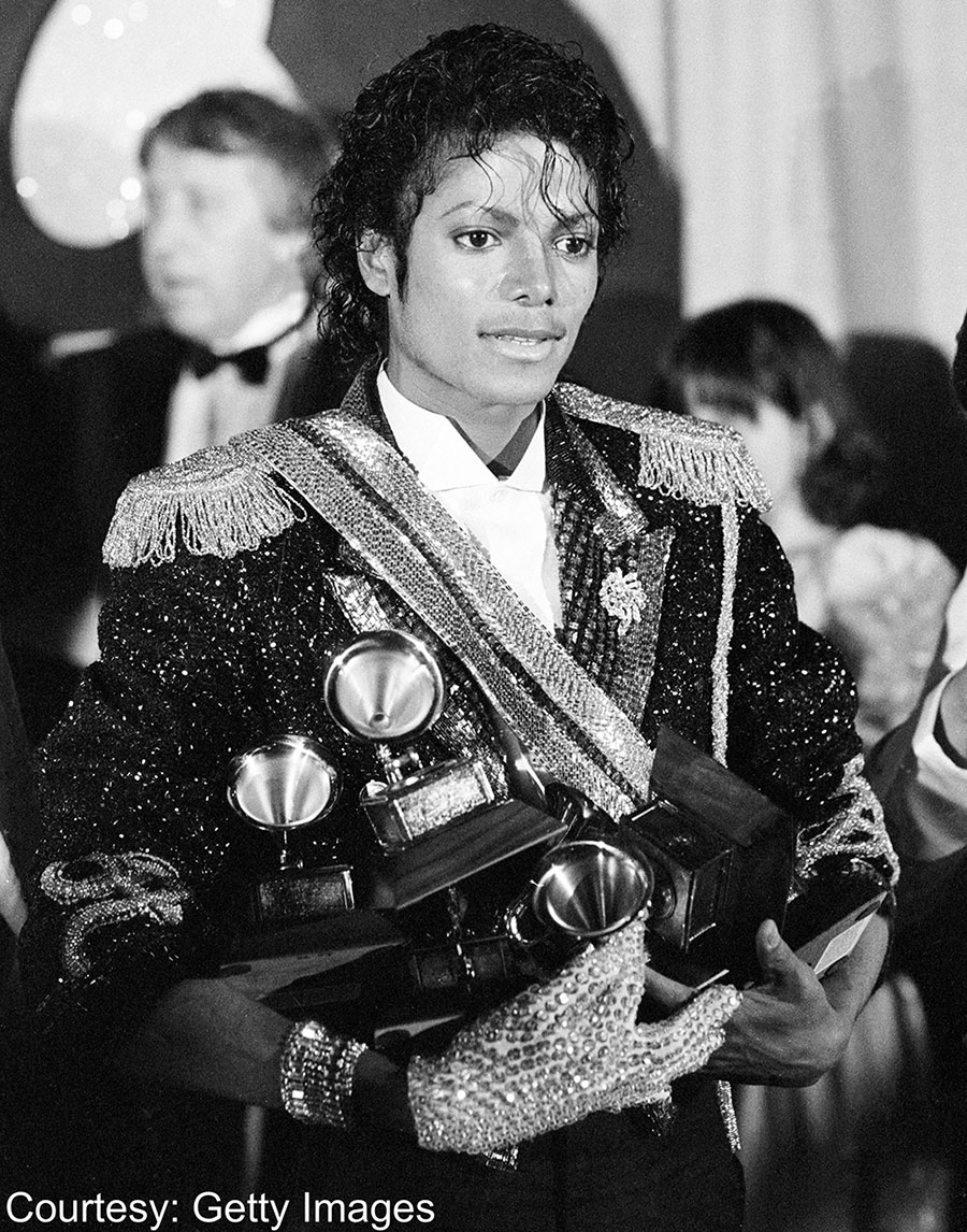 Michael Jackson at GRAMMY Awards February 28, 1984 at Shrine Auditorium in Los Angeles, California