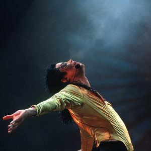 Michael Jackson performs in concert September 15, 1993 in Moscow, Russia