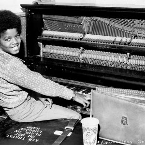 Michael Jackson at concert rehearsals at Modern Musical Services in Los Angeles, California, in 1971