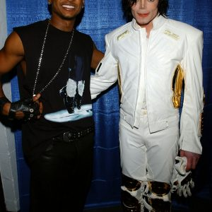 Michael and Usher at Michael Jackson: 30th Anniversary Celebration September 10, 2001