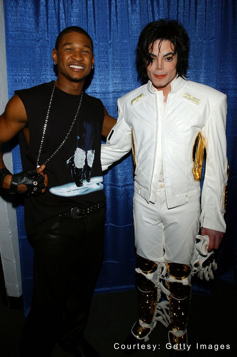 Michael and Usher at Michael Jackson: 30th Anniversary Celebration September 10, 2001
