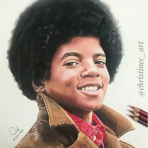 Michael Jackson Fan, Christine, Creates Exquisite Drawing