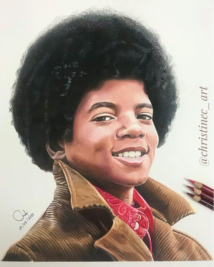 Michael Jackson Fan, Christine, Creates Exquisite Drawing