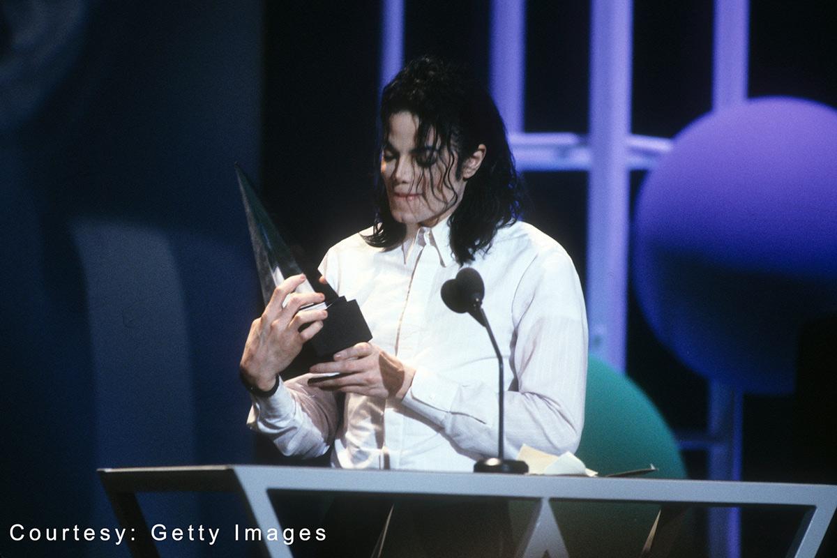 Michael Jackson at American Music Awards January 25, 1993