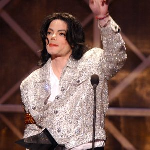 Michael Jackson accepts Artist of the Century Award at American Music Awards January 9, 2002