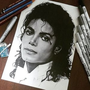 Fan Artist Creates Incredible Illustration Of Michael Jackson