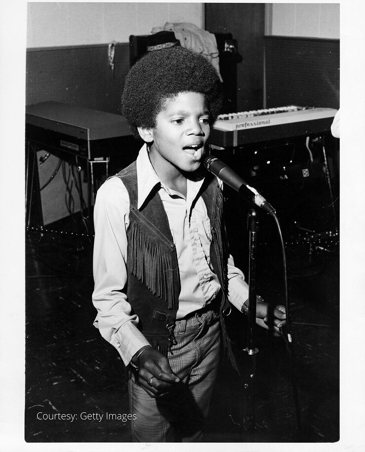 Michael Jackson performs onstage circa 1970